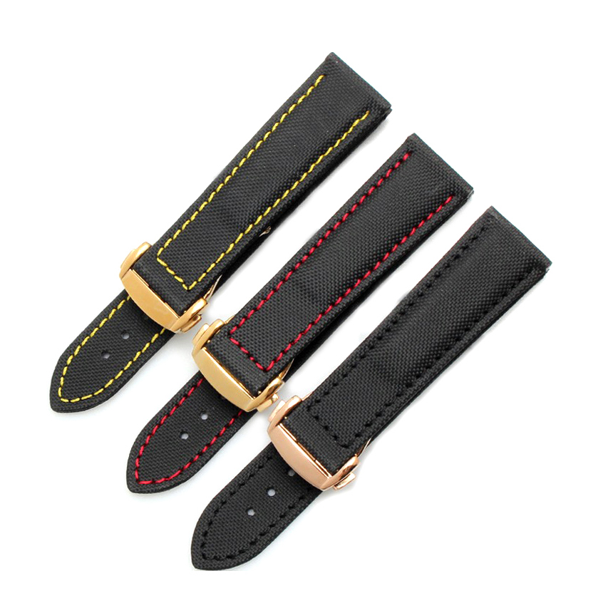 EACHE Nylon & Leather Watchband Special design Brand Leather Watchband ,Canvas leather watch Straps 20mm 22mm yaquicka 2pcs set car interior door stereo speaker cover trim ring styling for toyota corolla 2014 2015 2016 2017 abs accessory