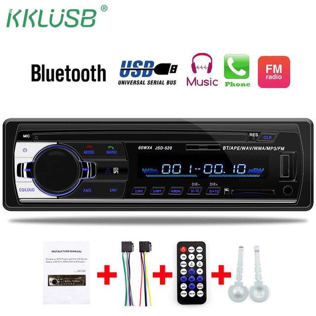 Autoradio 12 V 1 din Jogador som do carro Do Bluetooth Rádio Do Carro Telefone AUX-IN MP3 FM/USB/radio remote controle De Áudio Do Carro Do telefone