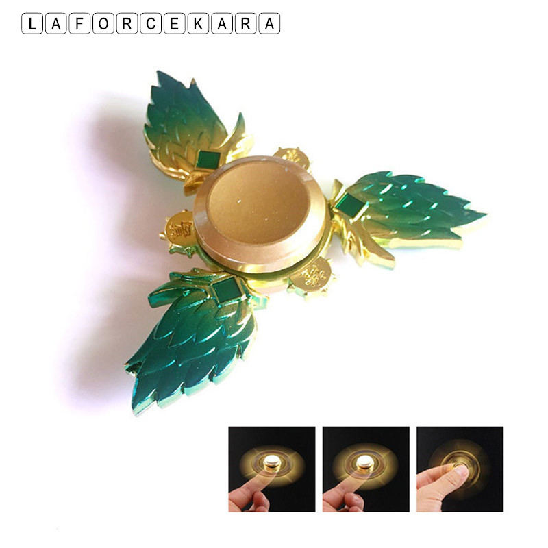 New Golden Feather Style Metal Fidget Spinner Zinc Alloy Gyro Rotary EDC Hand Spinner For Autism And ADHD Focus  Finger Tip Toy