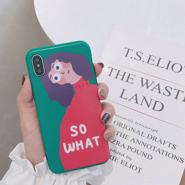 So What Cartoon Girl Hard Phone Case For iPhone