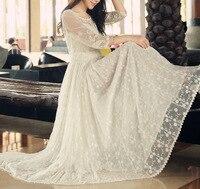 Полые кружевное с вышивкой в винтажном стиле хиппи бохо Лолита Mori Girl Повседневная vestiti Donna Roupa feminina Vestido Renda роковой платье