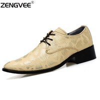 2017 New Embossed Genuine Leather Handmade Fashion British Business Suits Men's Shoes Metal Tip Toe Genuine Snakeskin Shoes