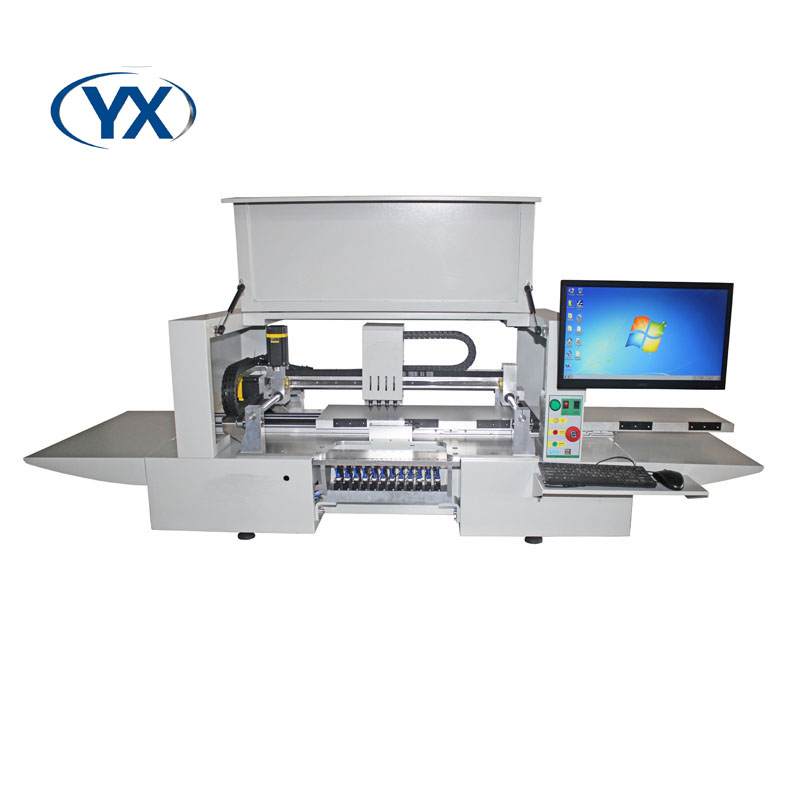 SMT Pick & Place Machine Special Structure Convenient YX1200 with 4 heads+12 feeder