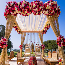 High Quality Artificial Flower Wall Wedding Arch Decoration Centerpiece Backdrop Table Centerpiece Flower Ball Background Decor 1piece lot centerpiece lighting remote controlled 8inch spot led light base for centerpiece table vase shisha hookah decor
