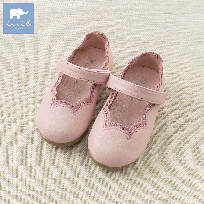 DB7011 Dave Bella summer baby girl leather shoes children brand shoes