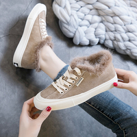 Real Fox fur Shoes Women Loafers Warm Winter Shoes Female Moccasins Casual Solid Black Footwear Fashion Sneaker Ladies Shoes