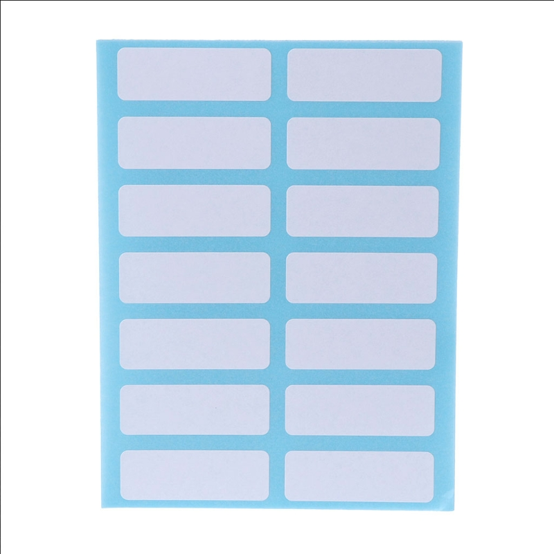 12sheets/pack self adhesive sticky white label writable name stickers Blank post it note label Bar New dhl self adhesive matte white a4 kraft paper square label library book shipping label print stickers fit laser inkjet printer
