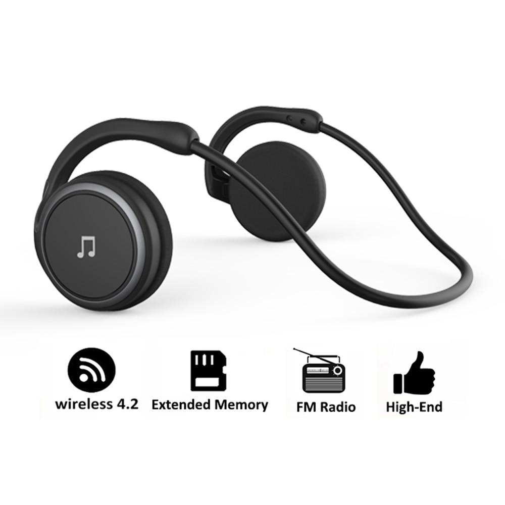 Arikasen Bluetooth Earphone Sport MP3 Player Headset FM Radio Extended Memory  Wireless Headphone Player Bluetooth Headphone Mic