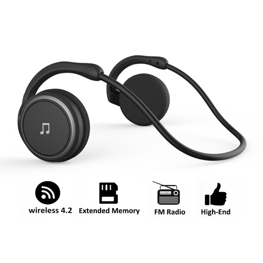 Arikasen Bluetooth earphone sport MP3 Player Headset FM Radio extended memory wireless headphone player bluetooth headphone mic