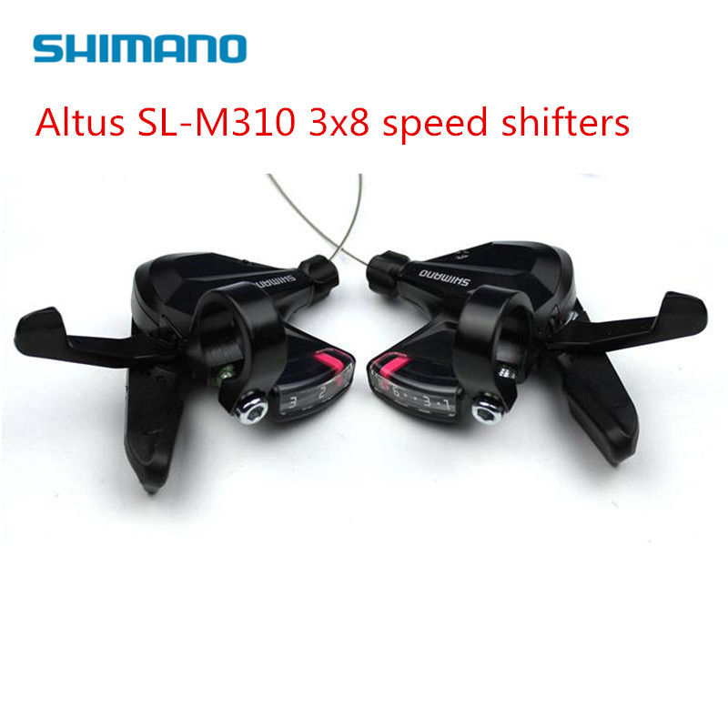 7 Speed Bicycle Shift Lever Shimano M310 Altus Right Trigger w//Cable /& Housing
