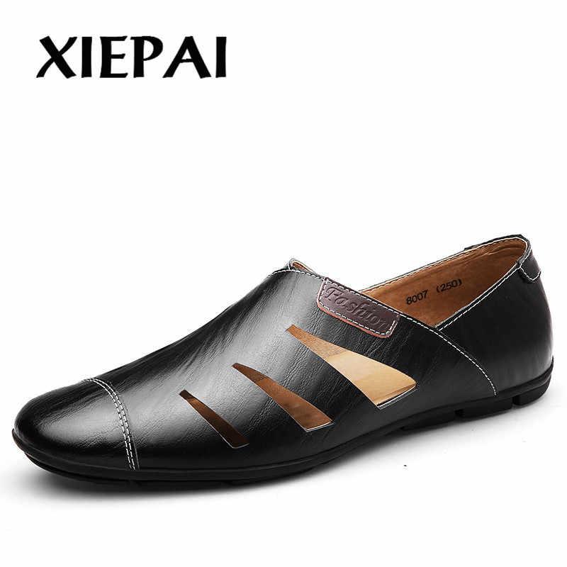 2019 2018 Mode Mannen Leren Instappers Mocassins Slip-on Casual Schoenen Slim Stijl Man Merk Rijden Schoenen Flats Maat 37-47