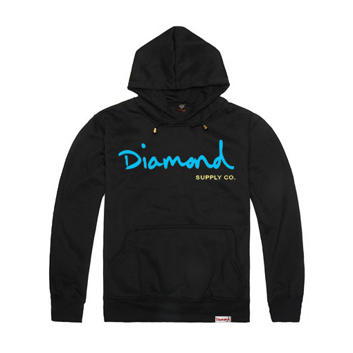 2016 Blue print letter Diamond supply hooded sweatshirt mens hoody tracksuit men Cotton thick casual hoodies Winter,ZA120