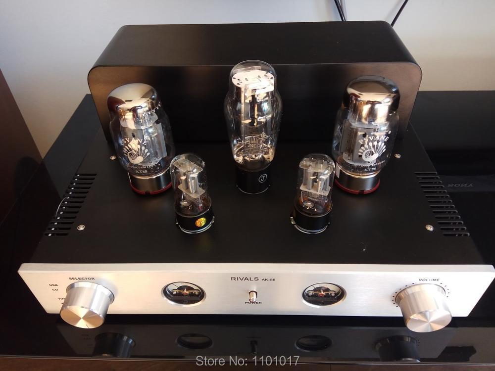 Himing rifers AK 88 plata Príncipe KT88 tubo amplificador HIFI exquisis de un solo extremo hecho A mano Clase A-in Amplificador from Productos electrónicos    1