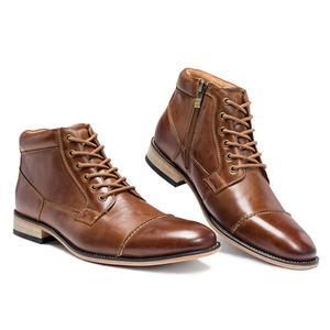Image 5 - VRYHEID ماركة عالية الجودة الرجال الأحذية حجم كبير 40 50 جلد طبيعي خمر حذاء رجالي موضة عادية الخريف الشتاء حذاء من الجلد