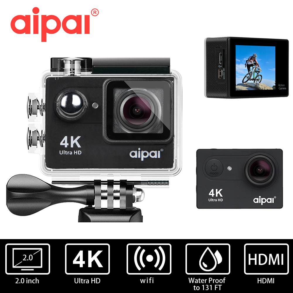 Aipal H9 H9R 4K 30fps Action camera Ultra HD Sport camera WiFi 1080P 60fps 720p 120fps