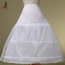 2017 Vintage 3 Hoops White Petticoat Ball Gown Bones Full Crinoline For Wedding Accessories For Quinceanera Dress jupon
