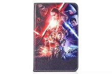 Star Wars The Force Awakens PU Leather Stand Flip Case Cover for Samsung GALAXY Tab E