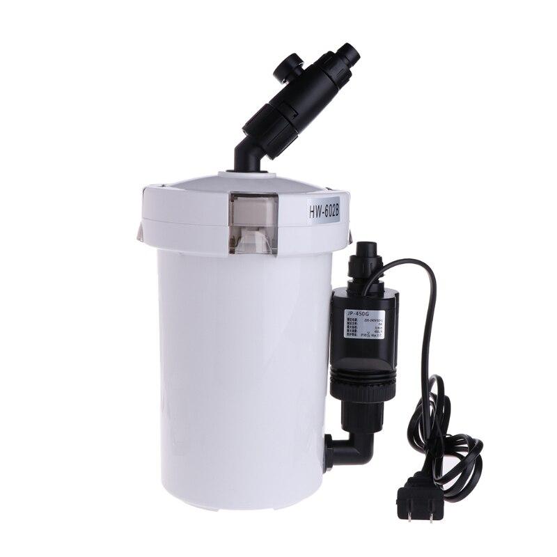 Filtre d'aquarium filtre externe Ultra-silencieux seau HW-602B pour Aquarium filtre réservoir de poissons + pompe à eau + tuyau tuyau US Plug