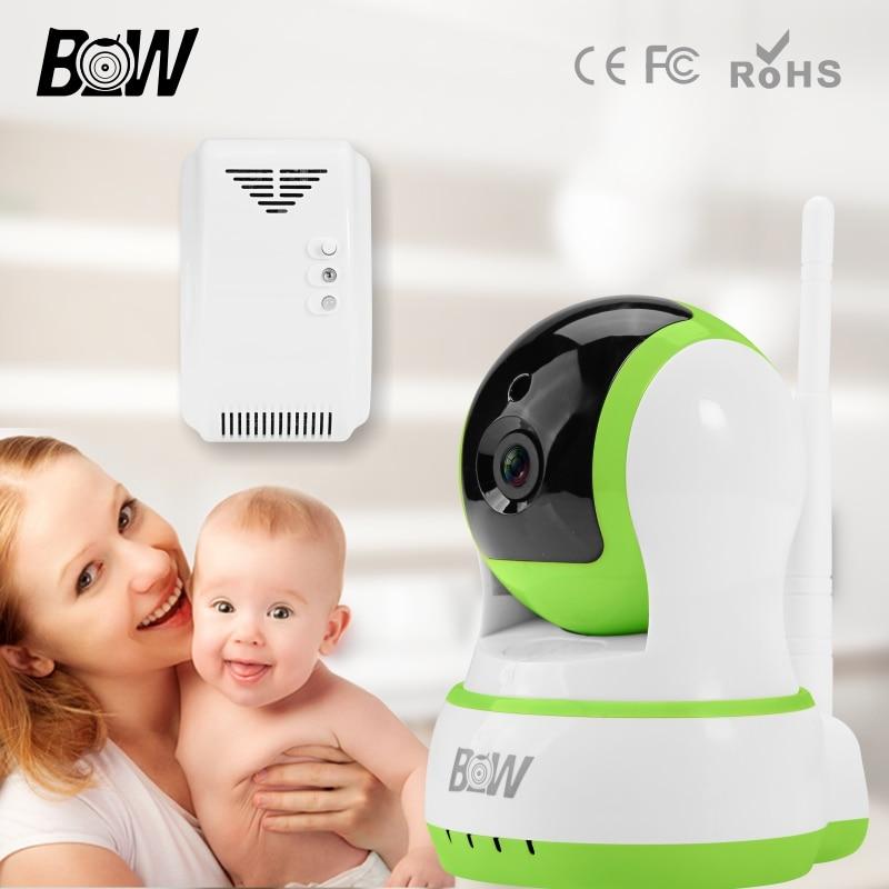 ФОТО Video Surveillance Wifi IP Camera Home Alarm Sensor + Gas Detector IP Camera Wireless Security Camera IP Remote Control BW13GR