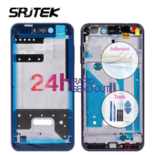 SRJTEK Middle Frame Housing For Huawei Honor 8 Lite Rear Bezel Plate Chassis with Power Volume Button Replacement P8 Lite 2017