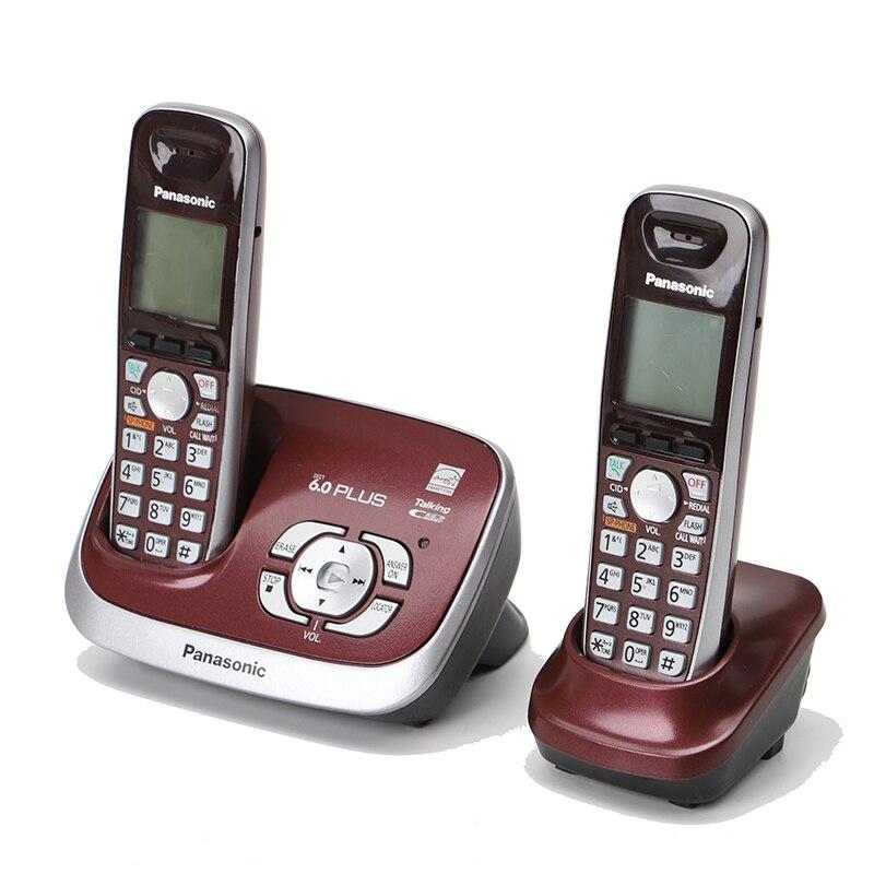 Dect6.0 téléphones sans fil avec système de réponse d'identification de l'appelant interphone interne téléphone fixe à domicile téléphone d'affaires pour hôtel rouge