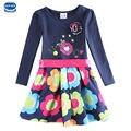 Vestido de la muchacha de estilo navy kids vestido para las niñas ropa de verano nova niños marca partido de las muchachas vestidos de princesa children ropa