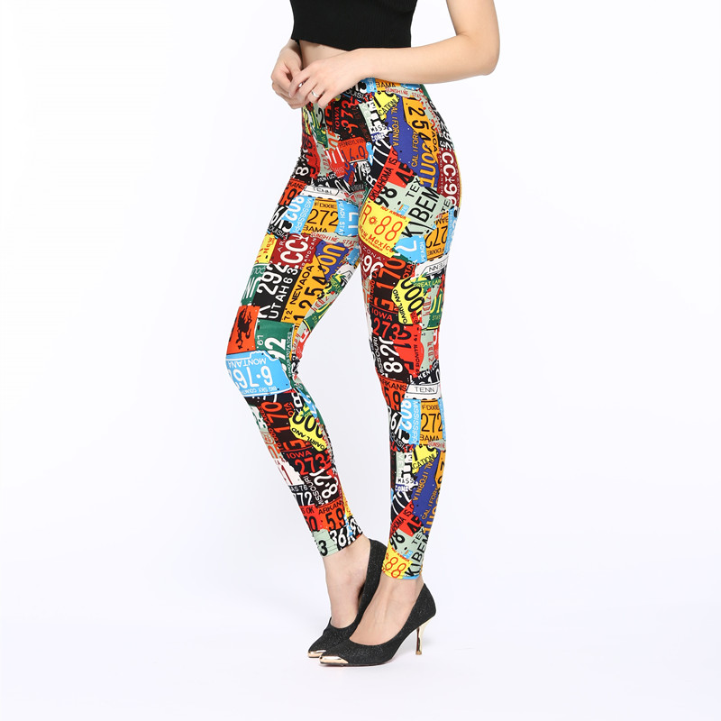 ARDLTME Brands New 2018 Women Fashion   Legging   letter printing Printing leggins Slim High Waist   Leggings   Woman Pants