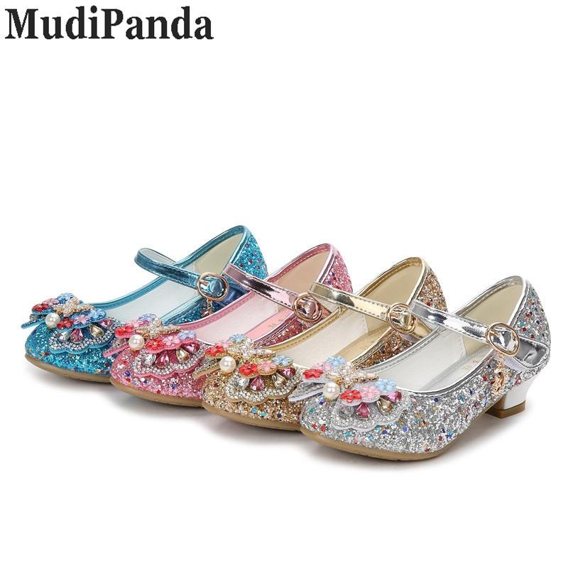 MudiPanda Glitter Dzieci Dziewczyny Szpilki Buty Dla dzieci - Obuwie dziecięce - Zdjęcie 6