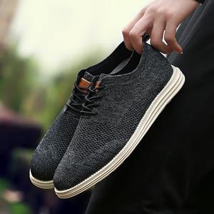 Image 3 - 2019 Summer New Vintage Men Casual Shoes Men Business Formal Brogue Weave Carved Oxfords Wedding Dress Shoes Breathable