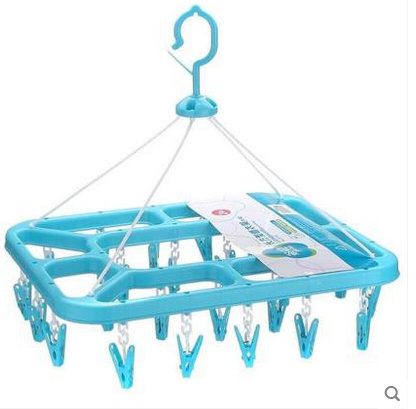 Se se plastikové spony balkon více dětí větší čtverečních spodní prádlo, ponožky oblečení-kůň 24 klipů