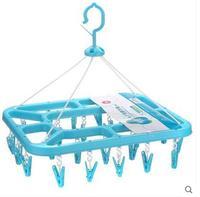 Stendibiancheria clip di plastica balcone più bambini più grande piazza vento biancheria intima, calzini stendibiancheria 24 clip