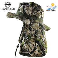 Tactical Camouflage Boonie Hats Nepalese Cap Bucket Hat Militares Army Mens Military Hiking Fishing Hat With Flaps UV UPF50+