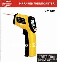 Yeni stil toptan (60 adet/grup) IR Termometre GM320 Sıcaklık aralığı-50 ~ 330'C (-58 ~ 626F) EMS veya Fedex tarafından nakliye (HK)