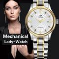 Подлинная Швейцарский BINKADA Женщины автоматические механические Часы самостоятельной ветер сапфир часы дамы моды бизнес женский водонепроницаемые Часы