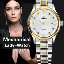 Genuine Swiss BINKADA Women automatic mechanical Watch self-wind sapphire watch ladies fashion business female waterproof Watch