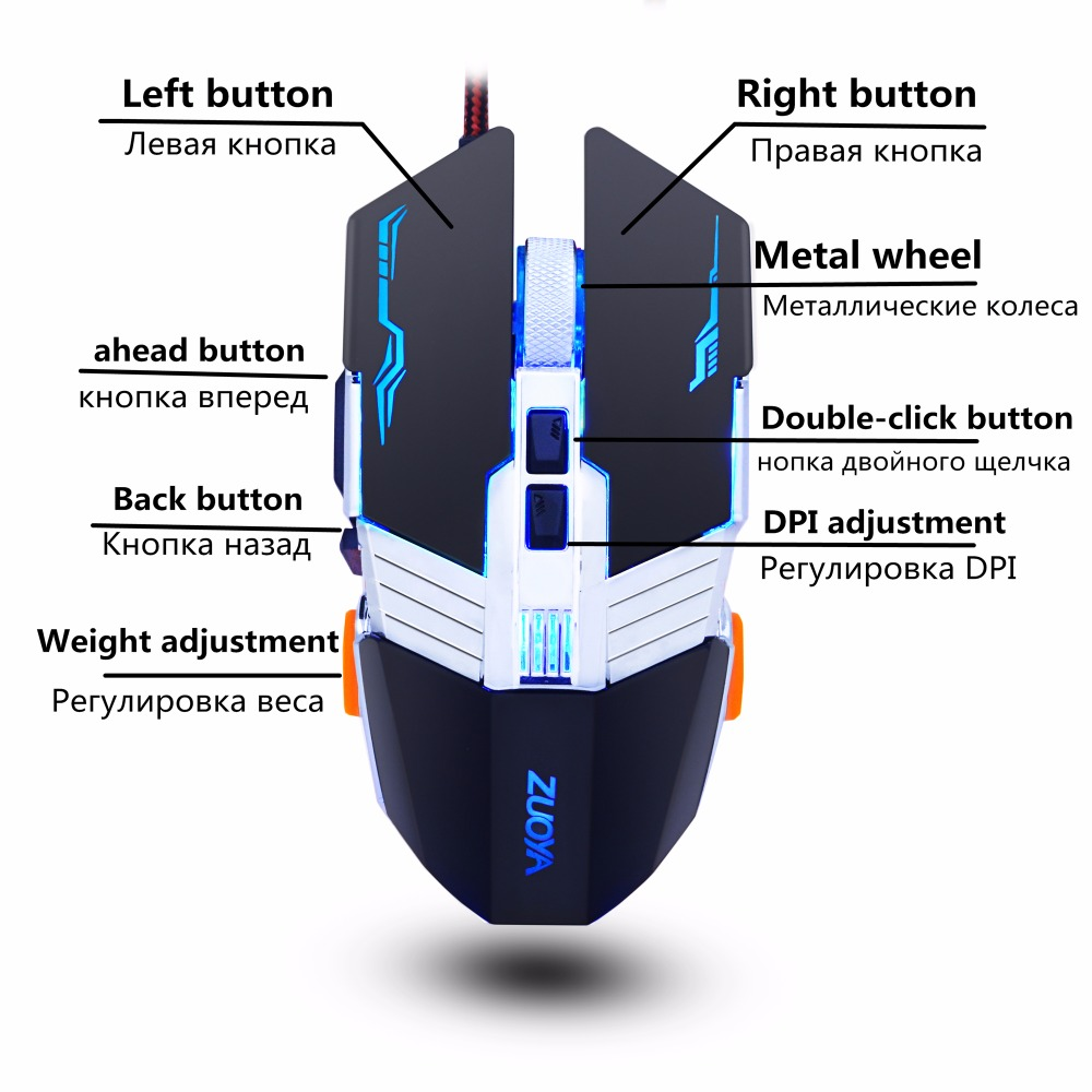 Zuoya Gaming Mouse And Pad Combination Professional Usb Optical Wiring Diagram Gamer Large