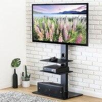 FITUEYES поворотный ТВ стенд с креплением для 32 65 дюймов плоский экран ТВ развлекательный центр регулируемая высота