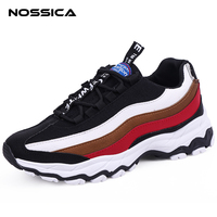 NOSSICA New Men Shoes Fashion Men Casual Shoes Breathable Male Sneakers Adult Lace up Comfortable Men's Vulcanize PU Shoes