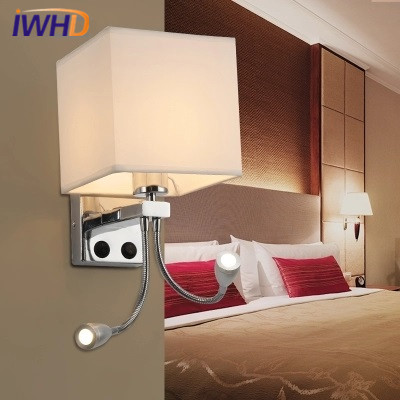 IWHD Modern Bed Wall Lamp LED Brief  Fabricl Wall Light Fixtures Simple Bathroom Reading Room Lamparas Home Lighting Luminaire modern lamp trophy wall lamp wall lamp bed lighting bedside wall lamp