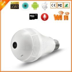 BESDER 3MP 2MP Câmera IP 1.3MP Sem Fio Lâmpada Olho De Peixe 360 graus VR 3D Mini Casa Lâmpada de Segurança CCTV Câmera IP Panorâmica