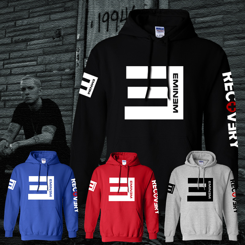 Fashion 5 Colors Men Hoodie Eminem Printed Hoodies Pullover Fleece Sweatshirt Men Hoody Rap Hip Hop Music Boy Sportswear S-3XL