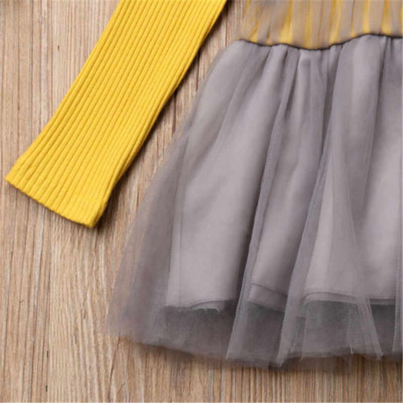PUDCOCO/поп-платье для новорожденных девочек с цветочным рисунком, вечерние Променад, туника принцессы, хлопковое платье Осенняя повседневная одежда для детей от 0 до 24 месяцев