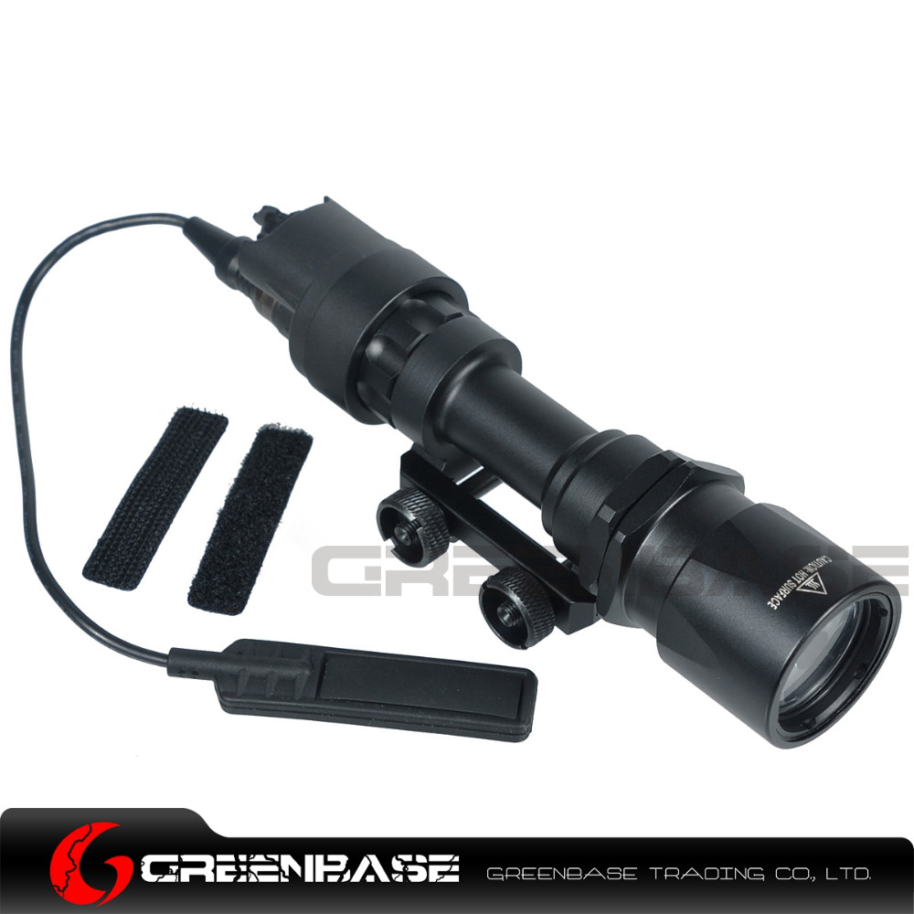 Greenbase Tactical SF M951 Scout Light Weapon Light Constant&Momentary CREE LED Flashlight Super Bright Fit M4 M16 Hunting Rifle greenbase tactical m300 m300b mini scout light outdoor rifle hunting flashlight 400 lumen weapon light led lanterna