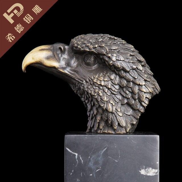 Escultura estátua Cabeça Da Águia Águia Selvagem Pássaro Estilo Art Deco  Decoração Do Jardim de Mármore ff8c0631835
