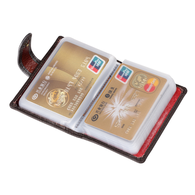 ZLON Hot Sale Fashion Crocodile Hasp Styles Men Genuine Leather 22 ID Card Bag Business Crad Case Credit Card & ID Holders K112