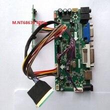 """Kit pour HSD100IFW4 A00 10.1 """"LED bricolage 1024*600 moniteur M. N68676 panneau écran LVDS 40pin VGA DVI HDMI LCD carte contrôleur"""