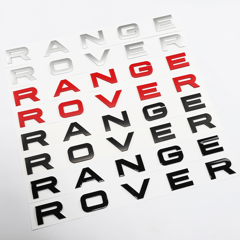 NEW Chrome Matt silver glossy black red hood front badge Letter emblem for Range rover Land rover car stickers solar electronic building blocks children s electrical science and education diy toys christmas gift