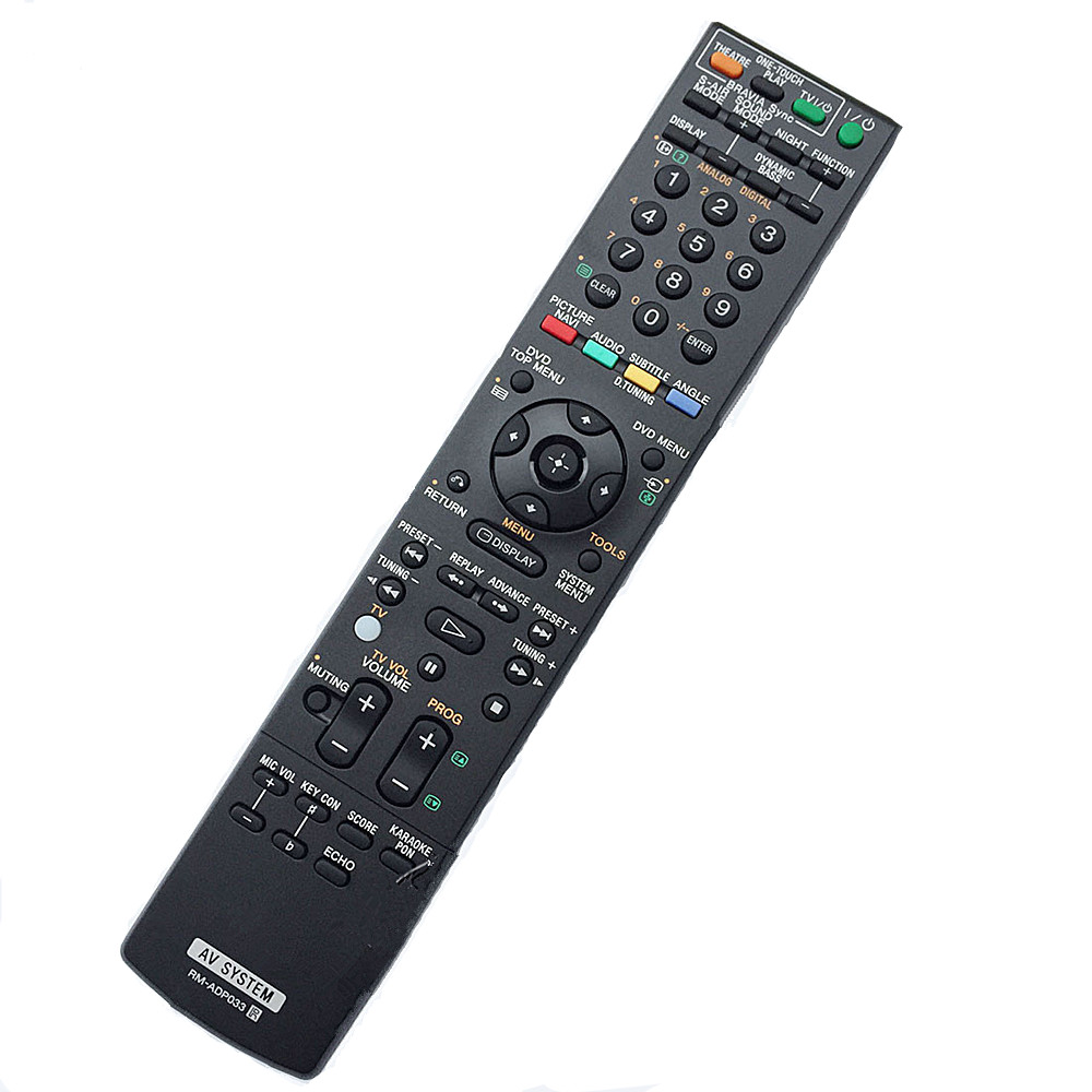 New remote control for Sony AV system remote controller RM-ADP033 RM-ADP021 RM-ADP022 chunghop rm l7 multifunctional learning remote control silver