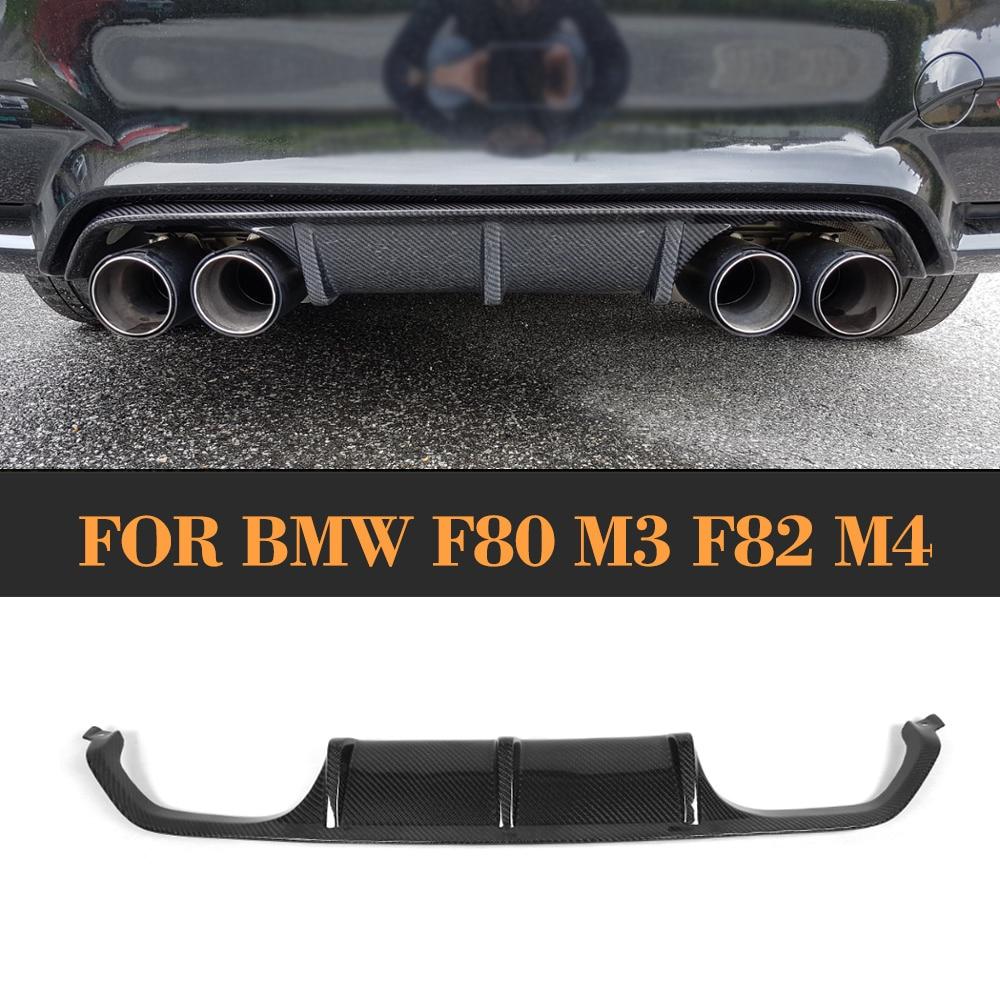 Carbon Fiber Auto Rear Bumper Lip Diffuser for BMW F80 M3 F82 F83 M4 2014 2017 Standard And Convertible P Style