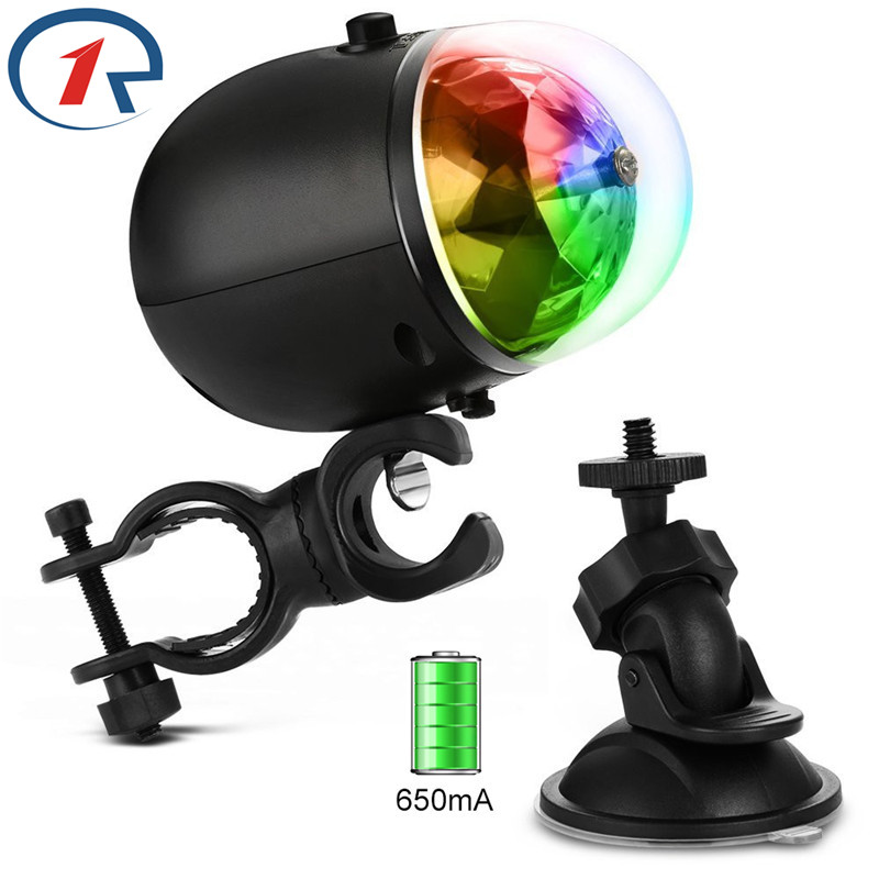 ZjRight USB 5V Wbudowany akumulator Auto-obrót RGB światło sceniczne Wodoodporny efekt ślubu wesele światła bar ktv dj oświetlenie